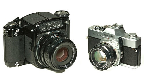 Pentax 67 and Minolta SRT101