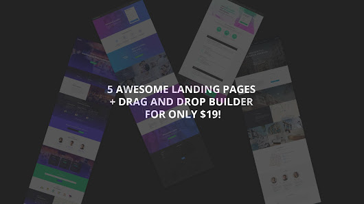 5 HTML Themes + Drag and Drop Builder