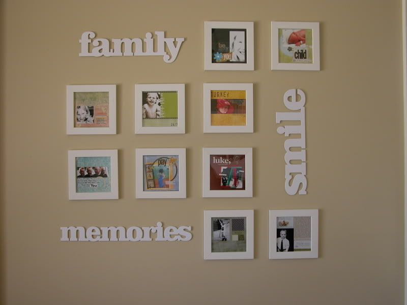 Scrapbook Wall Art | My blah, blah, blog...