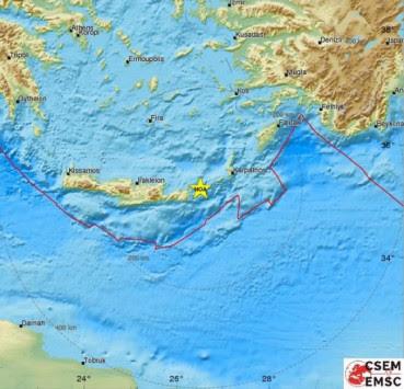 Σεισμός ταρακούνησε την Κρήτη! Τον `ένιωσαν` μέχρι την Τουρκία