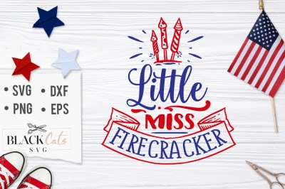 Download Little Miss Firecracker Svg Free