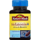 Nature Made Melatonin + L-Theanine, 200 mg, Liquid Softgels - 60 count bottle