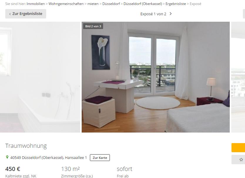 traumwohnung 40549 d sseldorf oberkassel hansaallee 1. Black Bedroom Furniture Sets. Home Design Ideas