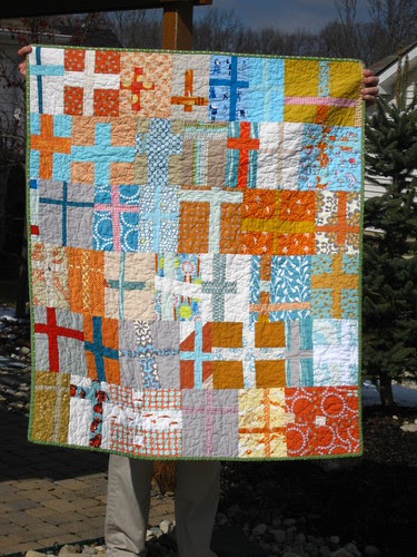 cross block quilt