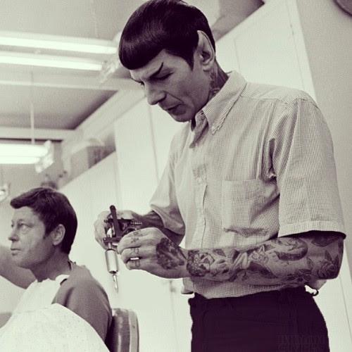 #spock the tattooer. #shoppedtattoos #cheyennerandall #fucklogic
