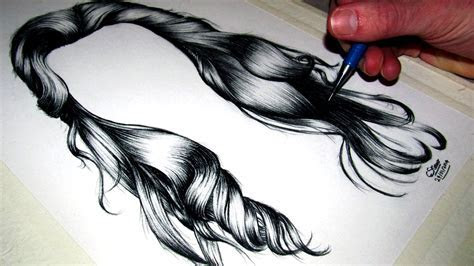 How to draw Realistic Hair   YouTube