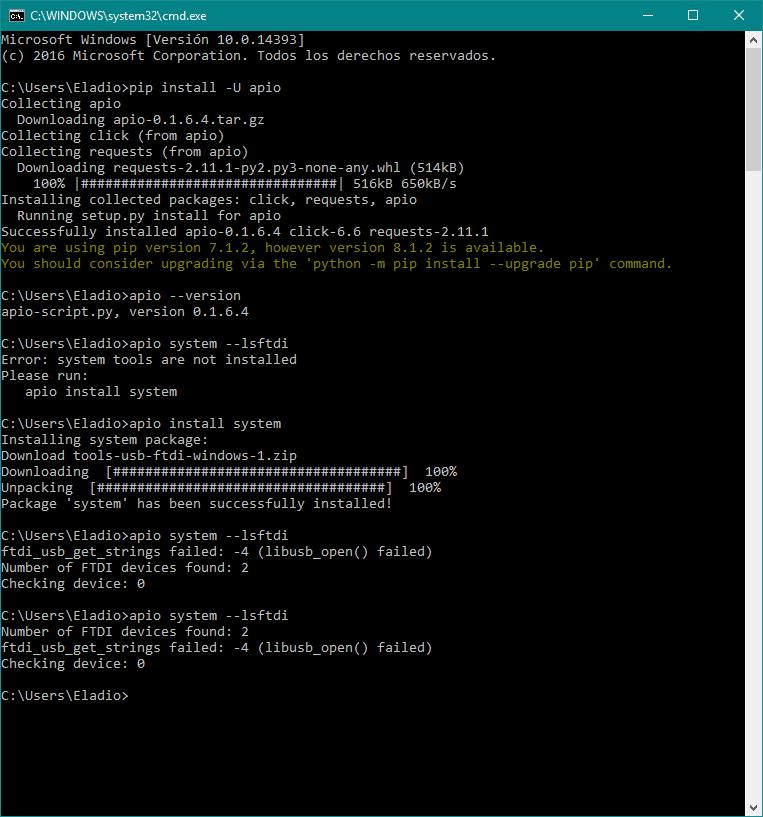 Re: [Libusb][drivers][zadig][W10] Pruebas en Windows 10 de