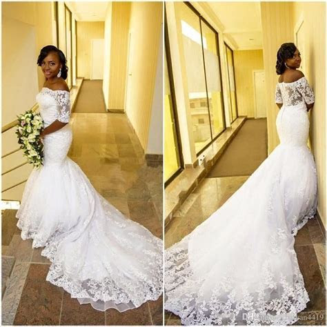 2017 African Cheap Mermaid Wedding Dresses Off Shoulder