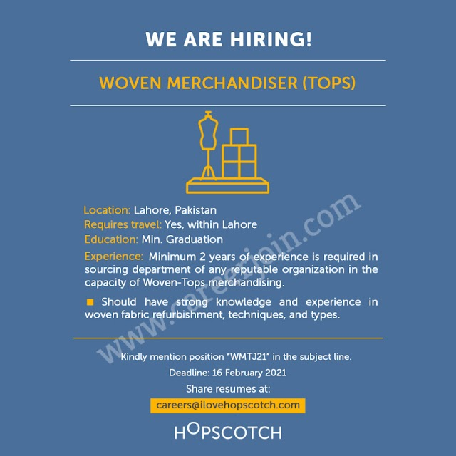 Hopscotch Pakistan Jobs January 2021