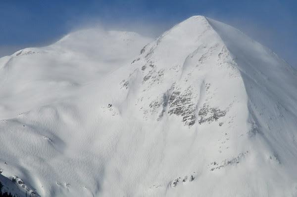 Purple Mountain in Winter