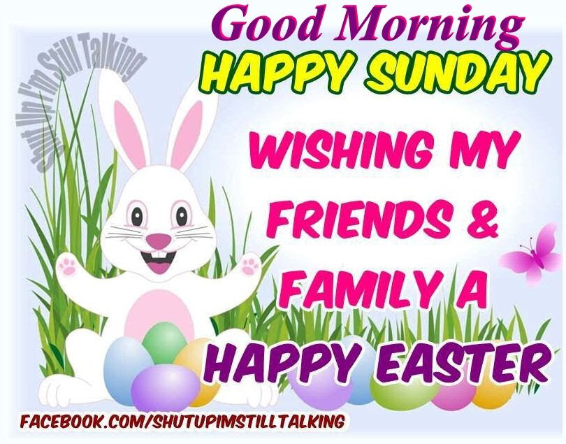 Happy Easter Good Morning Happy Sunday Wishing My Friends A Easter