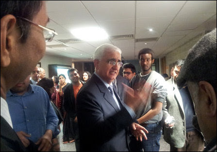 Salman Khurshid in UK