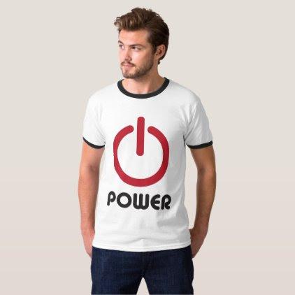 """""""Power Button"""" T-Shirt"""