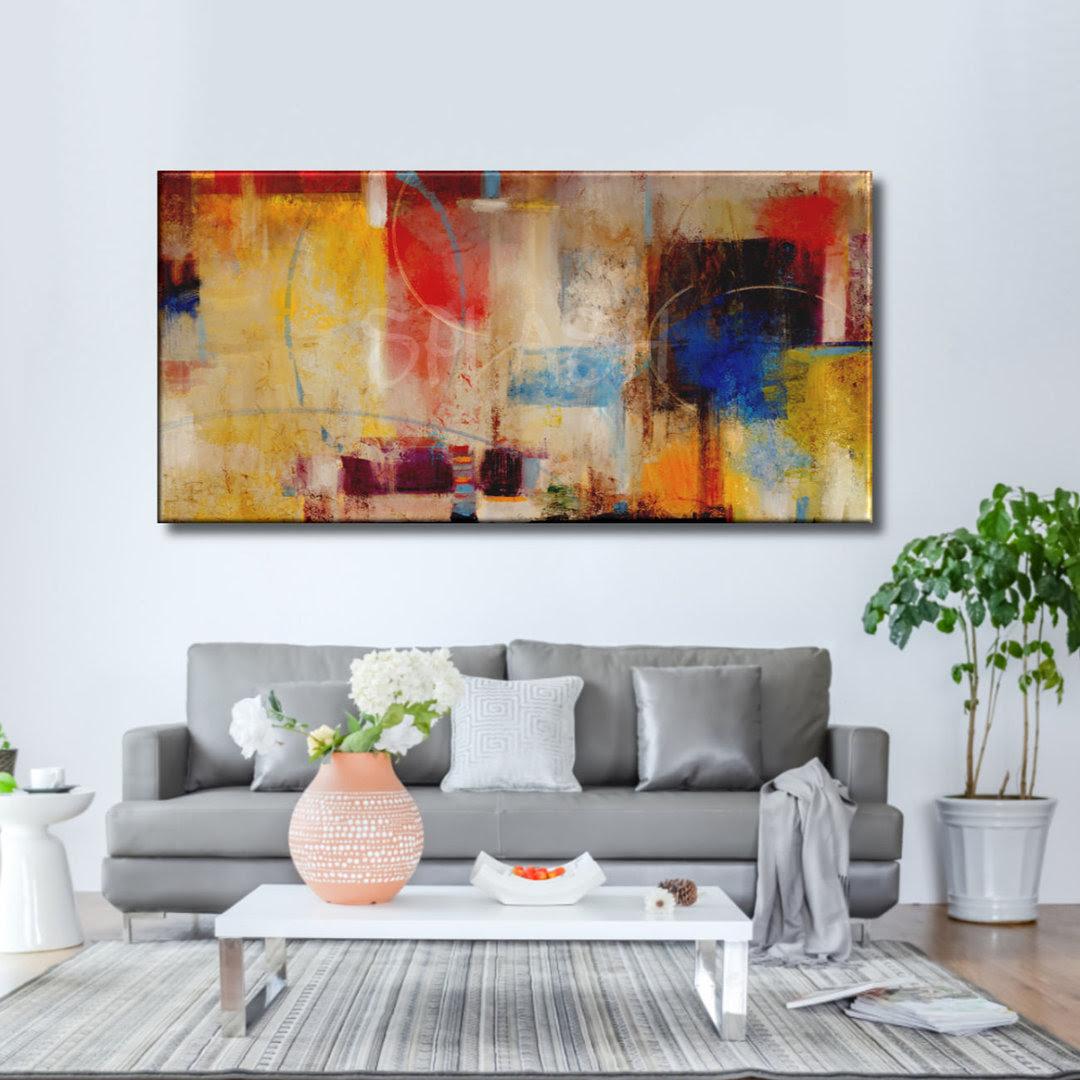Cuadros Abstractos Modernos Pintados Coloridos Grandes Baratos Para