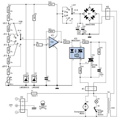 Universal Fridge Thermostat Wiring Diagram