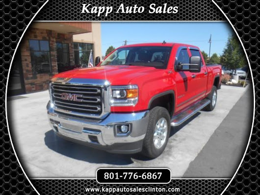 Used 2015 GMC Sierra 2500HD SLT Crew Cab 4WD for Sale in Clinton UT 84015 Kapp Auto Sales
