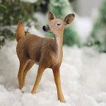 Miniature White-Tailed Doe Deer, 3'' wide x 3 1/4'' high, Brown, Craft Supplies