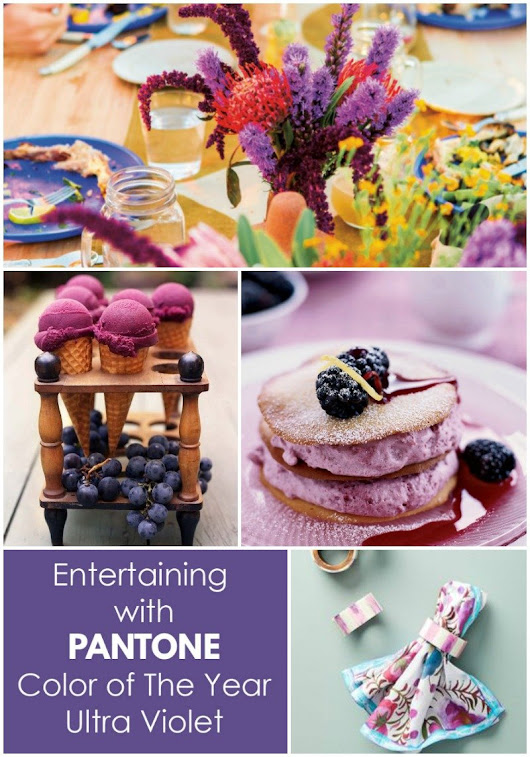 Entertaining with PANTONE Color of The Year 2018 - Revel and Glitter