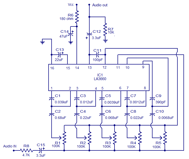 Block Diagram Of Audio Graphical Corrector Equalizer