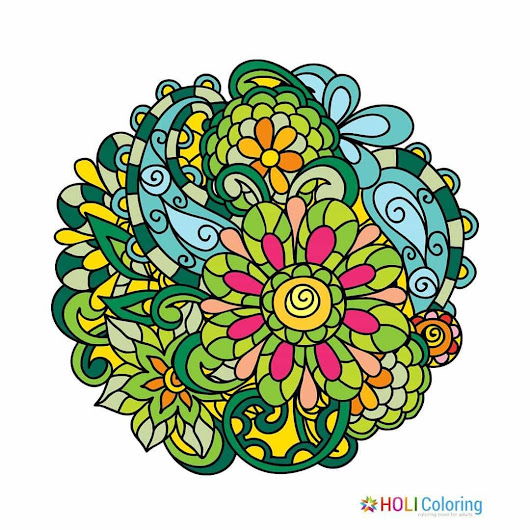 Flowers Coloring Pages, Android and iOS Coloring Book App