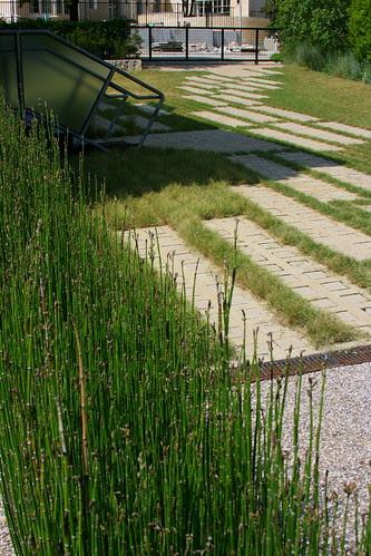 Pump House Garden pumphouse paving