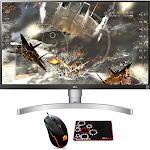 """LG 27"""" 4K HDR IPS Monitor 3840 x 2160 16:9 with Gaming Mouse & Pad"""