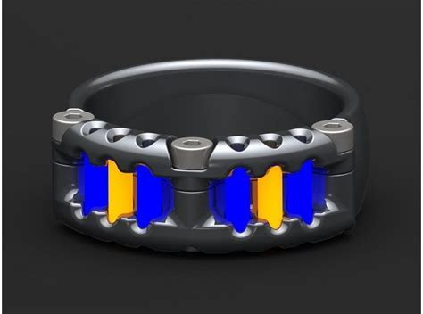 Remarkable tritium ring made by Tofty Designs. Called the