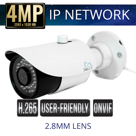 4mp IP Bullet Security Camera with 2.8mm Lens