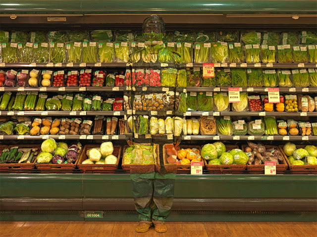 The Invisible Man: Artist Liu Bolin Hides in Plain Sight painting illusion camouflage