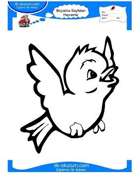 Boyama Kuş Resmi