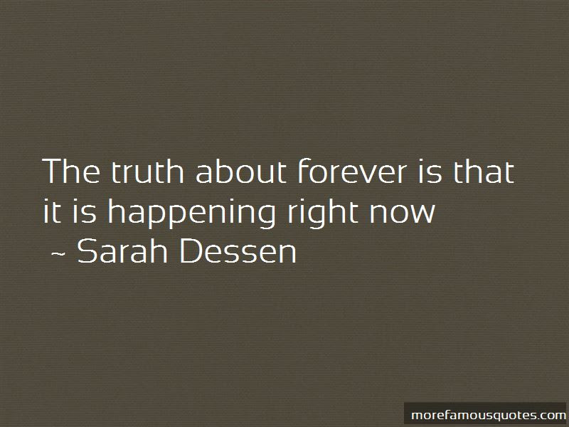Quotes About The Truth About Forever Top 48 The Truth About Forever