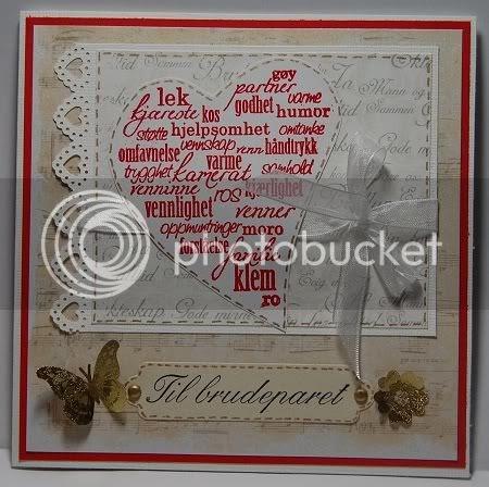 Wenche's Papirkaos!: Bryllupskort/Weddingcard