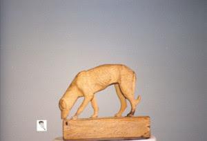 Otra de las figuras que modelaba, ésta de un perro del año 1922.