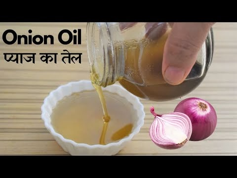 Homemade Onion Hair Oil for faster hair growth and stop hair fall