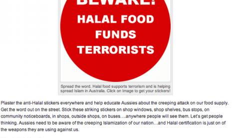 Stiker Anti-Islam di Australia.