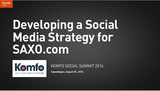 Developing a social media strategy for SAXO.com