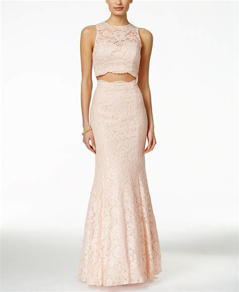 Xscape Embellished Lace Two Piece Mermaid Gown   Dresses