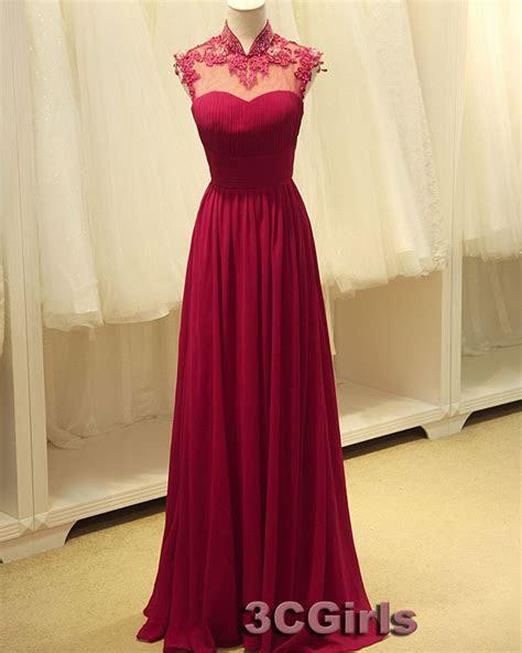 Prom dress 2015, Amazing open back wine red chiffon