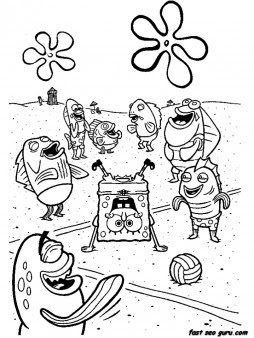 printable cartoon network spongebob coloring in sheets  free printable coloring pages for kids