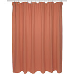Carnation Home Fashions Standard Size 100% Cotton Chevron Weave Shower Curtain, Burnt Coral
