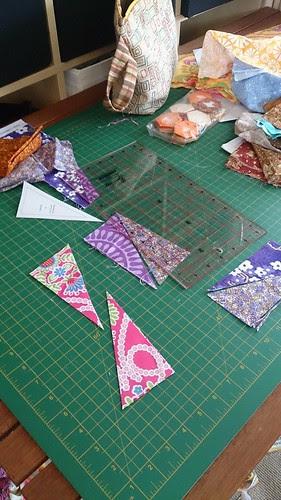 box Kite quilt block making
