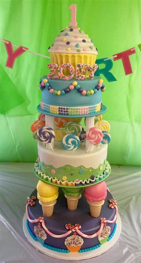 MyMoniCakes: CandyLand theme cake with ice cream cone