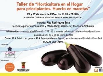 Informaciones agronomicas cursos 2016 taller - Huerto para principiantes ...