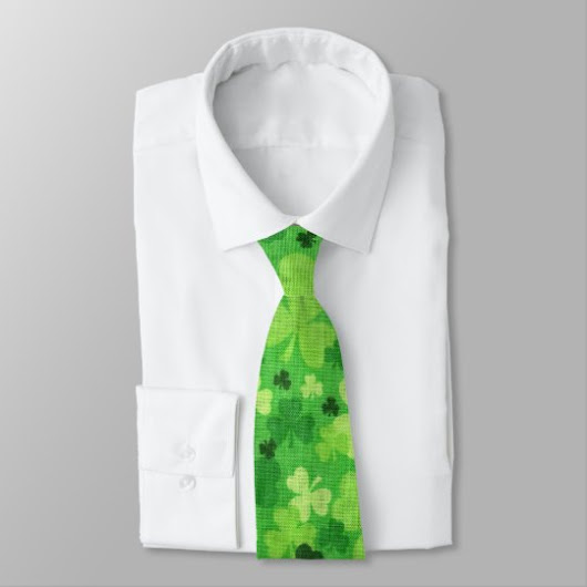 "Shamrock ""Woven Cloth"" St. Patrick's Day Tie"