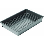 "Chicago Metallic Petite Roast and Broil Pan with Rack, 7"" x 10"""