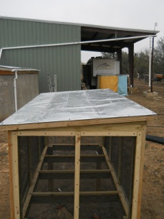 Meat Dryer Roof Flashing Installed, Top View