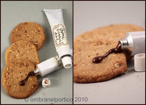 Biscotti bacio-di-dama e crema gianduja