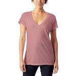 Alternative 2894B2 Ladies' Slinky-Jersey V-Neck T-Shirt, Rose Bloom