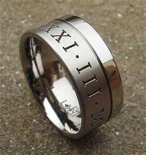 Twin Finish Personalised Titanium Wedding Ring : LOVE2HAVE UK!