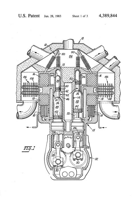 Patent US4389844 - Two stage stirling engine - Google Patents